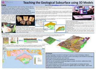 Teaching the Geological Subsurface using 3D Models