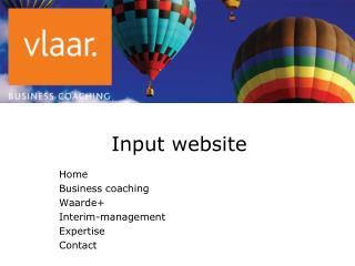 Input website