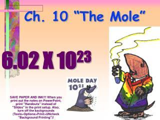 """Ch. 10 """"The Mole"""""""