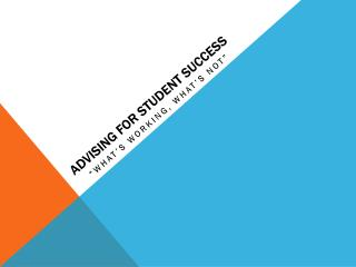 Advising for Student Success