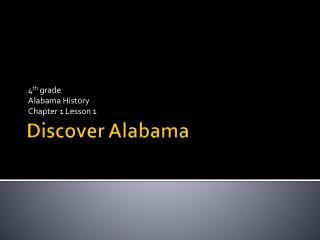 Discover Alabama