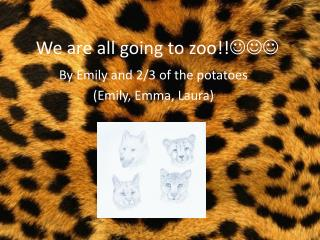 We are all going to zoo!! 