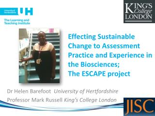 Dr Helen Barefoot   University of Hertfordshire Professor Mark Russell  King's College London