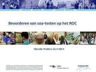 Bevorderen van soa-testen op het ROC