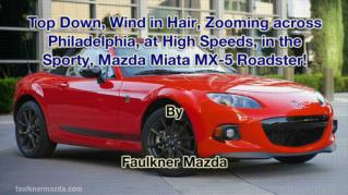 ppt 41972 Top Down Wind in Hair Zooming across Philadelphia at High Speeds in the Sporty Mazda Miata MX 5 Roadster