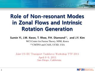 Role of Non-resonant Modes  in Zonal Flows and Intrinsic Rotation Generation