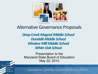 Alternative Governance Proposals