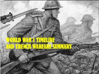 World War 1 Timeline and Trench Warfare Summary