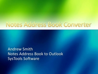 Notes Address Book to Outlook Download
