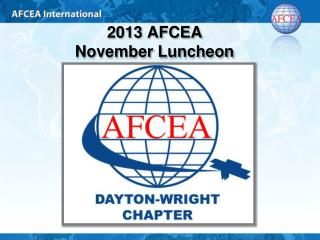 2013 AFCEA  November Luncheon