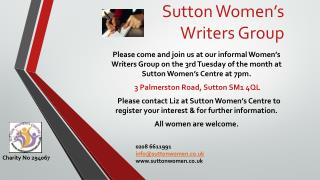 Sutton Women's Writers Group
