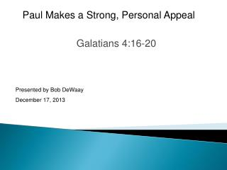 Galatians 4:16-20