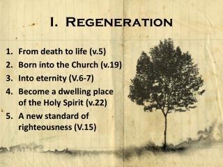 I.  Regeneration