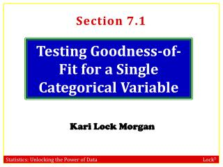 Testing Goodness-of-Fit for a Single Categorical Variable