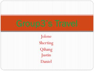 Group3's Travel