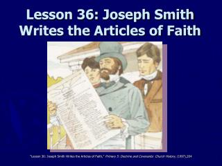 Lesson 36: Joseph Smith Writes the Articles of Faith