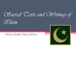 Sacred Texts and Writings of Islam