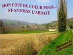 MON COUP DE COEUR POUR... ST-ANTOINE LABBAYE