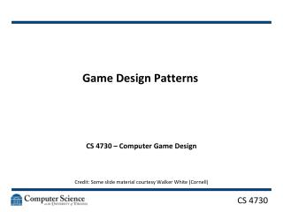 Game Design Patterns