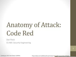 Anatomy of Attack: Code Red