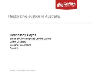 Restorative Justice in Australia