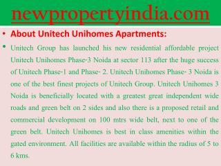 unitech noida Apartments @09654435045@ unihomes noida