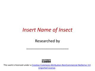 Insert Name of Insect