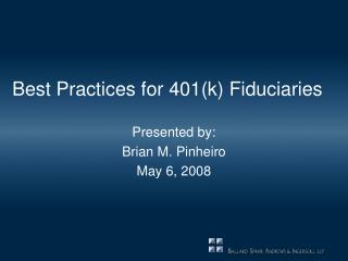 Best Practices for 401k Fiduciaries