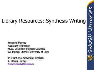 Library Resources: Synthesis Writing