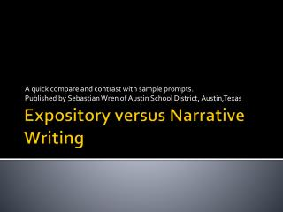 Expository versus Narrative Writing