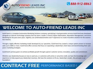 Auto Friend Leads - Auto Marketing Solutions
