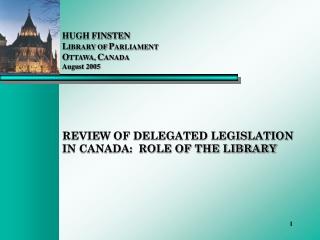 Parliament  and  Delegated Legislation