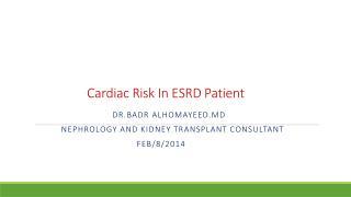 Cardiac Risk In ESRD Patient