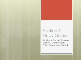 Section 3 Study Guide