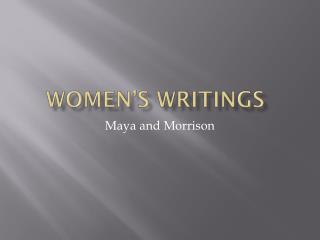 Women's Writings