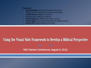 Using the Visual Valet Framework to Develop a Biblical Perspective