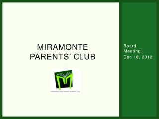 Miramonte Parents' Club