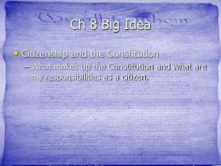Ch 8 Big Idea