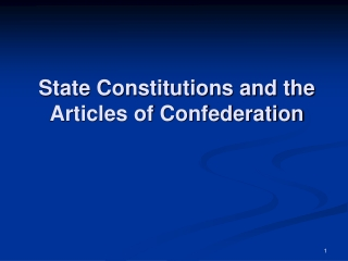 Drafting the Federal Constitution