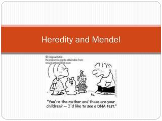 Heredity and Mendel
