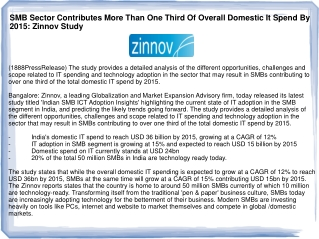 SMB Sector Contributes More Than One Third Of Overall Domest