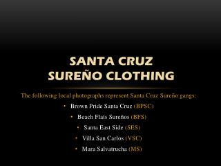 Santa Cruz  SureÑo  CLOTHING