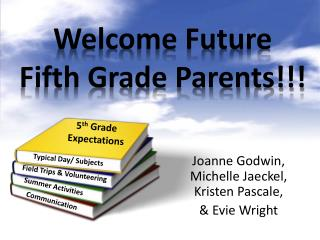 Welcome Future  Fifth Grade Parents!!!