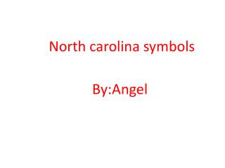 North  carolina  symbols