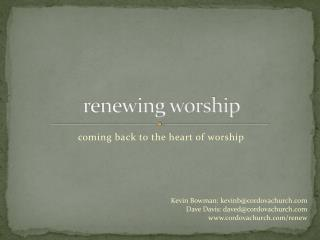 renewing worship