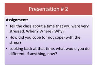Presentation # 2