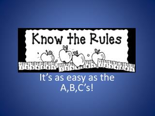 It's as easy as the A,B,C's!