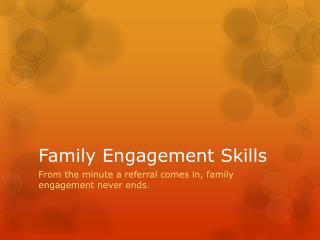 Family Engagement Skills