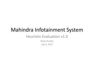 Mahindra  Infotainment System