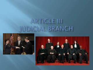 Article III Judicial Branch